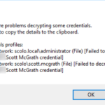 RDCMan – There were problems decrypting come credentials