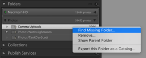 Find the new location of the missing folder