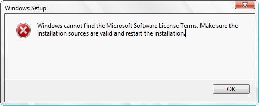 Windows 2012 License Error